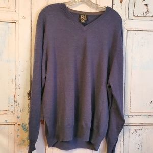 Jos A Bank Blue Signature Collection Sweater Wool